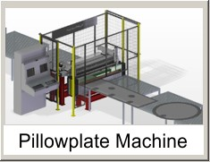 pillowplate machine, laser welding machine, dimple machine