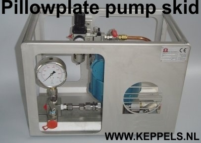 pillow plate pump skid