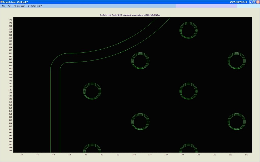 Pillowplate machine laser path